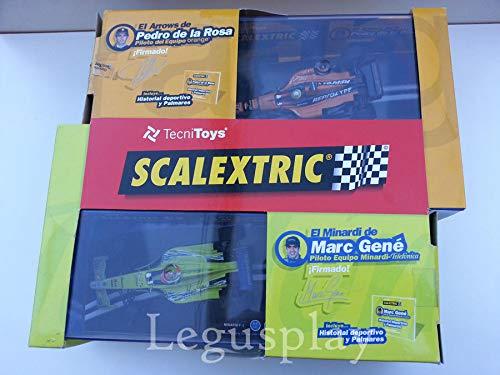 SCX Slot Scalextric 6902 Pack F-1 Edicion Especial P.de la Rosa/M.Gené(Firmados): Amazon.es: Juguetes y juegos