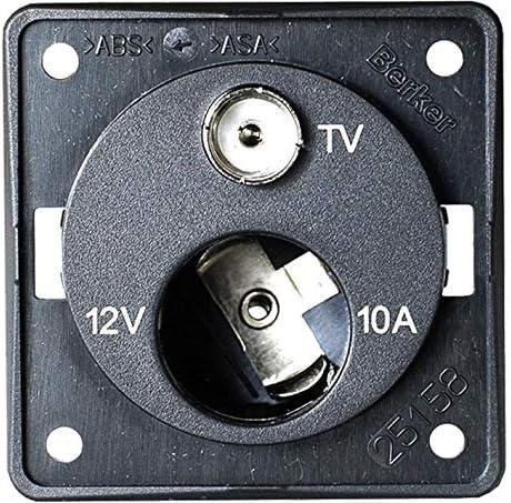 Berker Toma de mechero de 12 V + toma de antena de TV ...