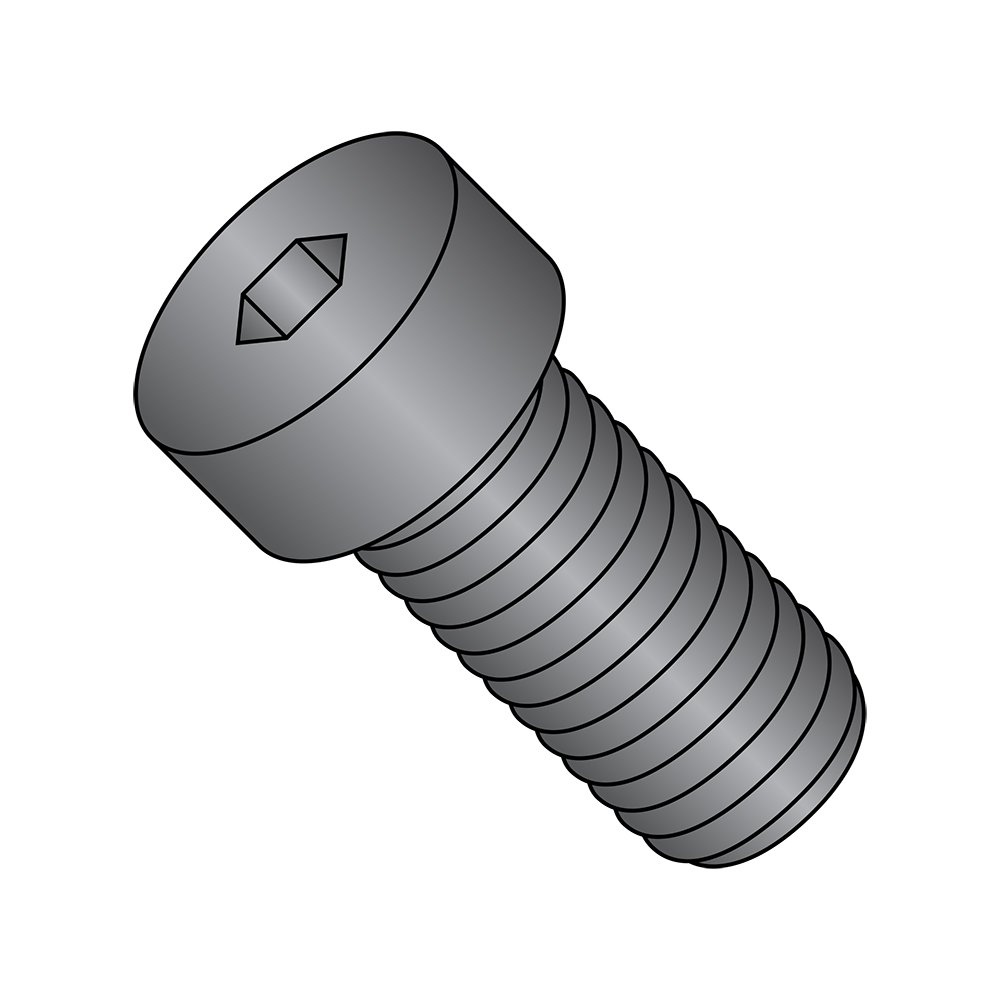 5//8 Length Small Parts 0810CSL 5//8 Length 8-32 Thread Size Hex Socket Drive Fully Threaded Pack of 100 Black Oxide Alloy Steel Low Head Socket Cap Screw US Made