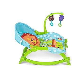 Amazon.com: Silla mecedora para bebé multifuncional ligera y ...