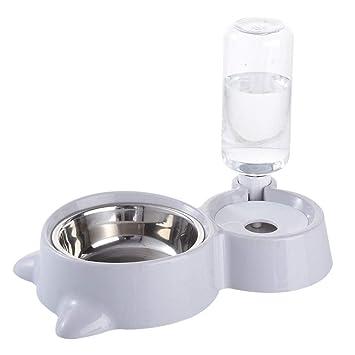 Amazon.com: WEAO - Comedero para mascotas y agua de acero ...