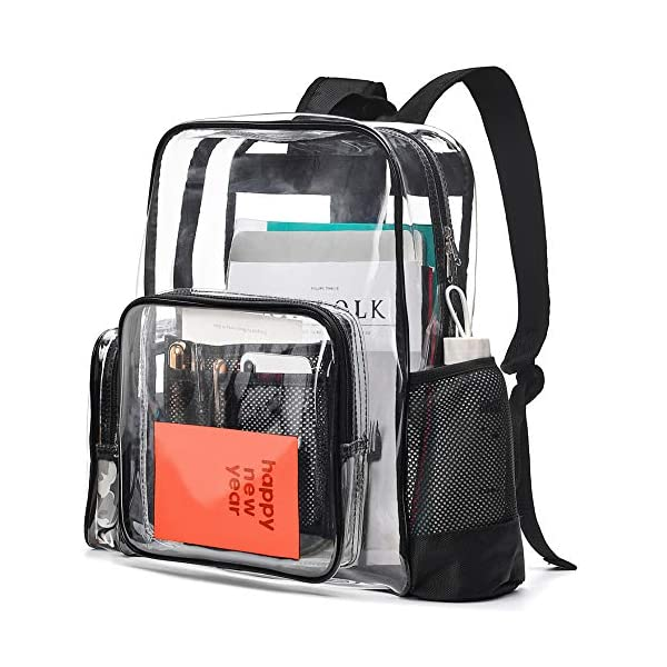 Cambond Clear Backpack Heavy Duty Transparent Backpacks for Adults with Reinforced Straps See-Through Bag for School Work Cambond Clear Backpack Heavy Duty Transparent Backpacks for Adults with Reinforced Straps See-Through Bag for School Work 51WlaUVKiaL