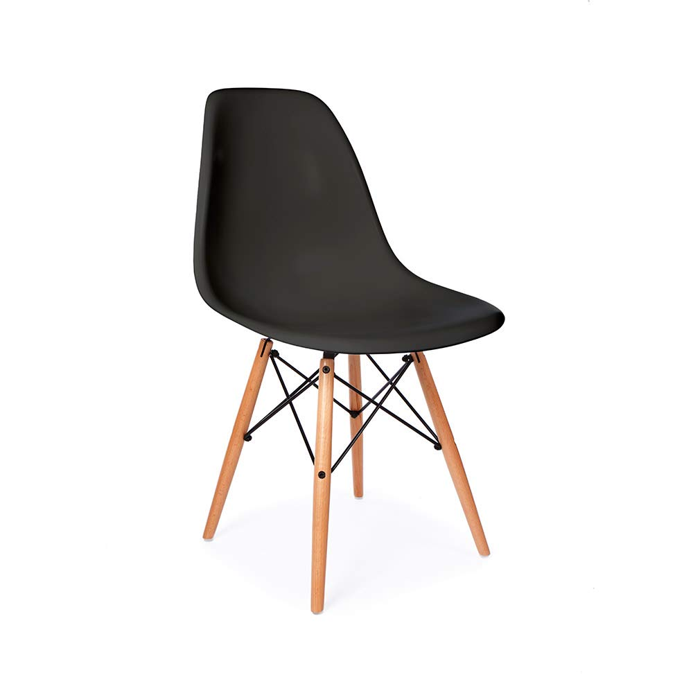 Amazon com eames replica dsw mid century modern dining chair black chairs