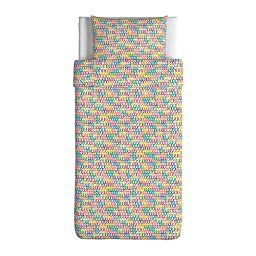 Ikea Stickat Duvet Cover and Pillowcase(s), Multicolor-Twin Size
