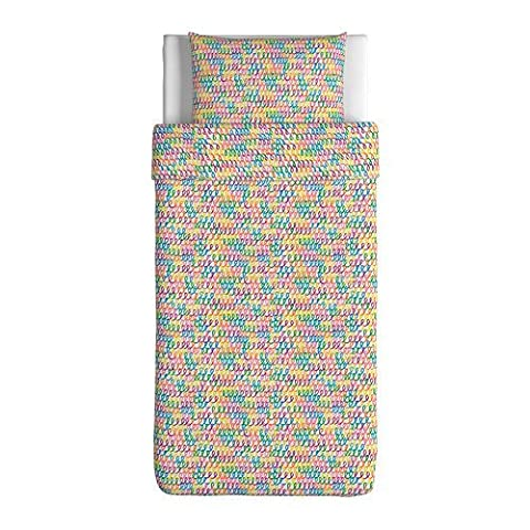 Ikea Stickat Duvet Cover and Pillowcase(s), Multicolor-Twin Size (Ikea Twin Bedding)
