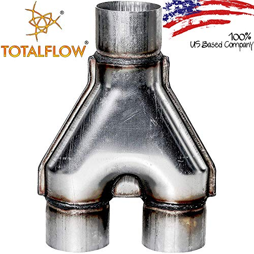 TOTALFLOW TF-SY2525 409 Stainless Steel 2.5 Inch Y-Pipe Single / 2.5