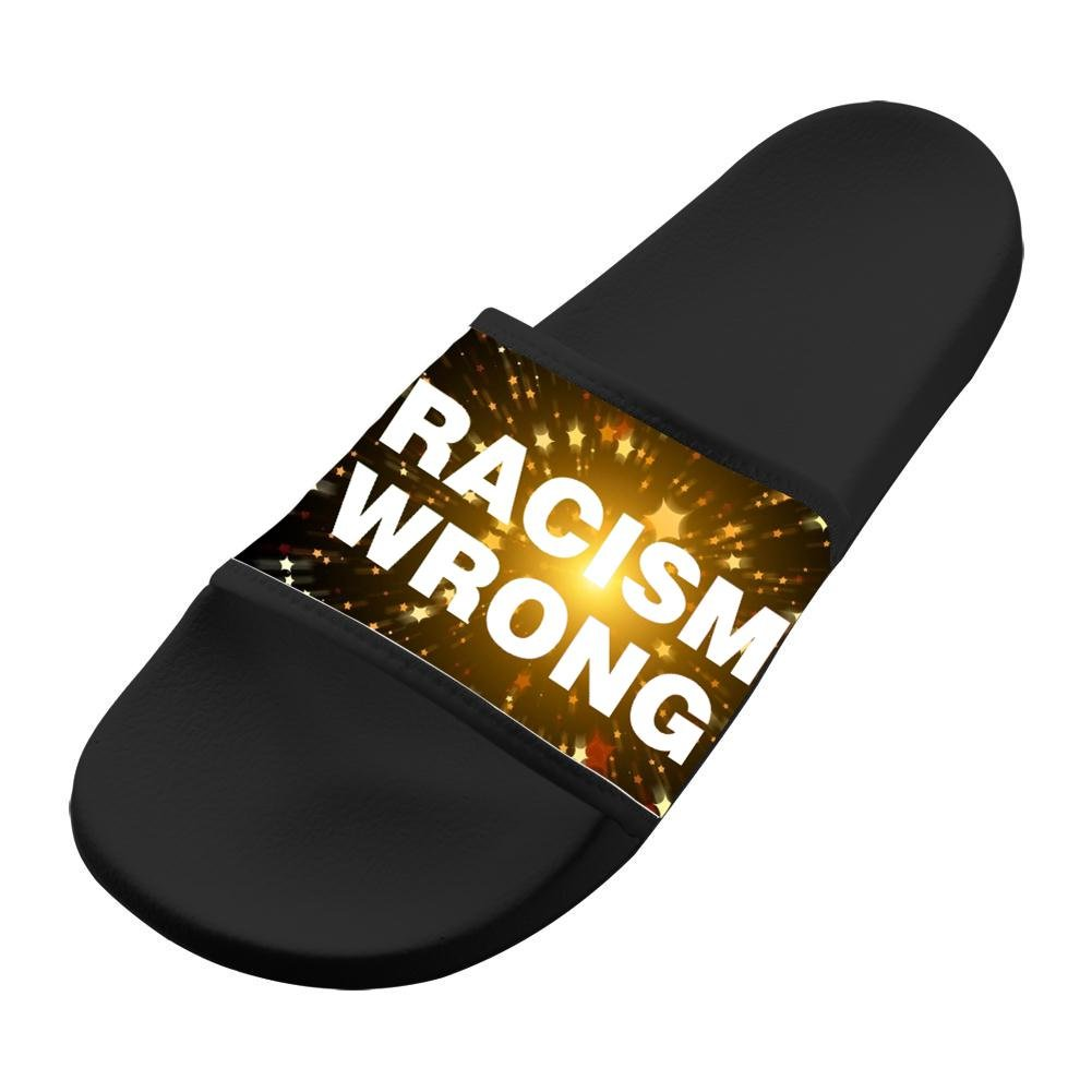 WpBenf No To Racism New Kids Slippers Anti-skidding Flip-Flops