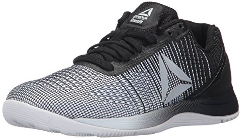 Reebok Women's CROSSFIT Nano 7.0 Track Shoe, White/Black/Silver Metallic, 7.5 M US