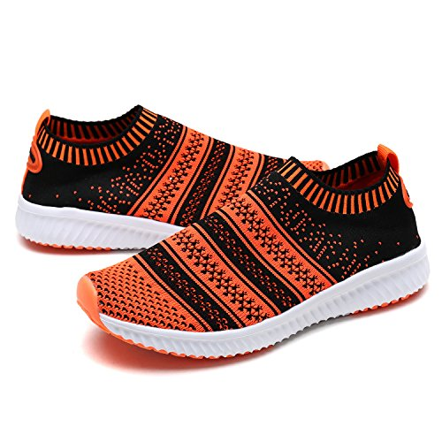 DREAM PAIRS Toddler 170379-K Black Orange Comfort Loafer Shoes Sneakers - 7 M US Toddler