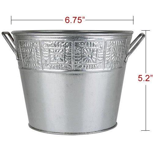 galvanized-metal-plant-pot-buckets-silver-one-piece