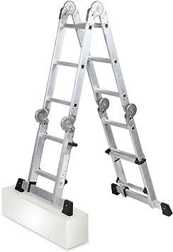 Arcama MPT03 Escalera articulada telescópica: Amazon.es: Bricolaje y herramientas