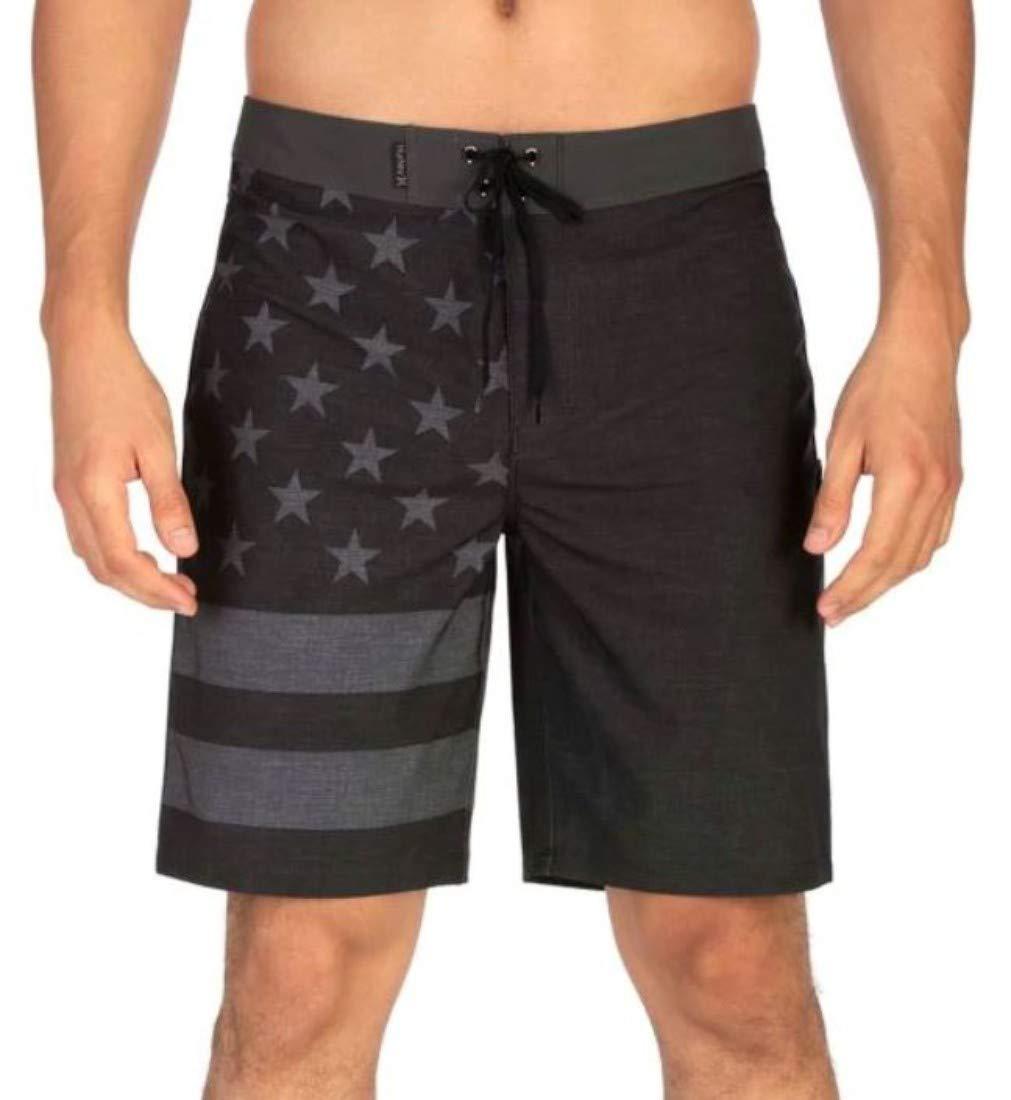 Hurley Men's 20'' Phantom Patriot Board Shorts, Black B, 38''