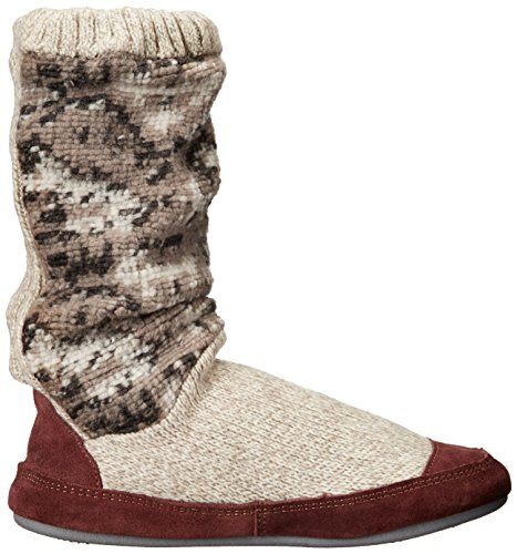 Tan Acorn Slipper Boot Tribal Women's Slouch Knit x7q7HOz
