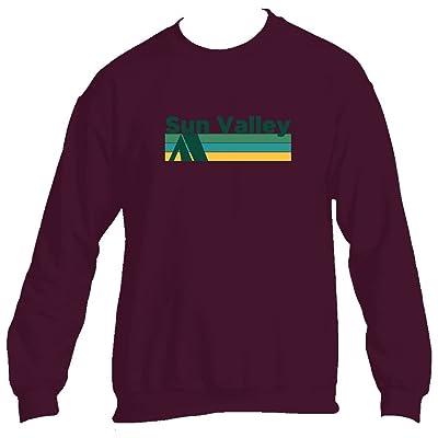 Tenn Street Goods Sun Valley Retro Camping - Idaho Men's Crewneck Sweatshirt