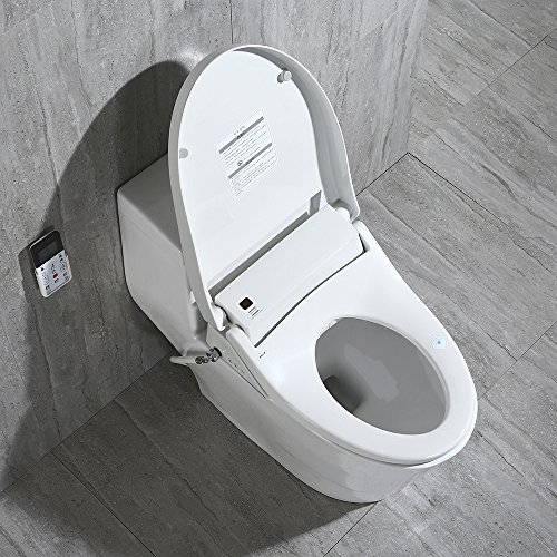 WoodBridge T-0008 Luxury Bidet Toilet, Elongated One Piece Toilet with Advanced Bidet Seat, Smart Toilet Seat with Temperature Controlled Wash Functions and Air Dryer by Woodbridgebath (Image #8)'