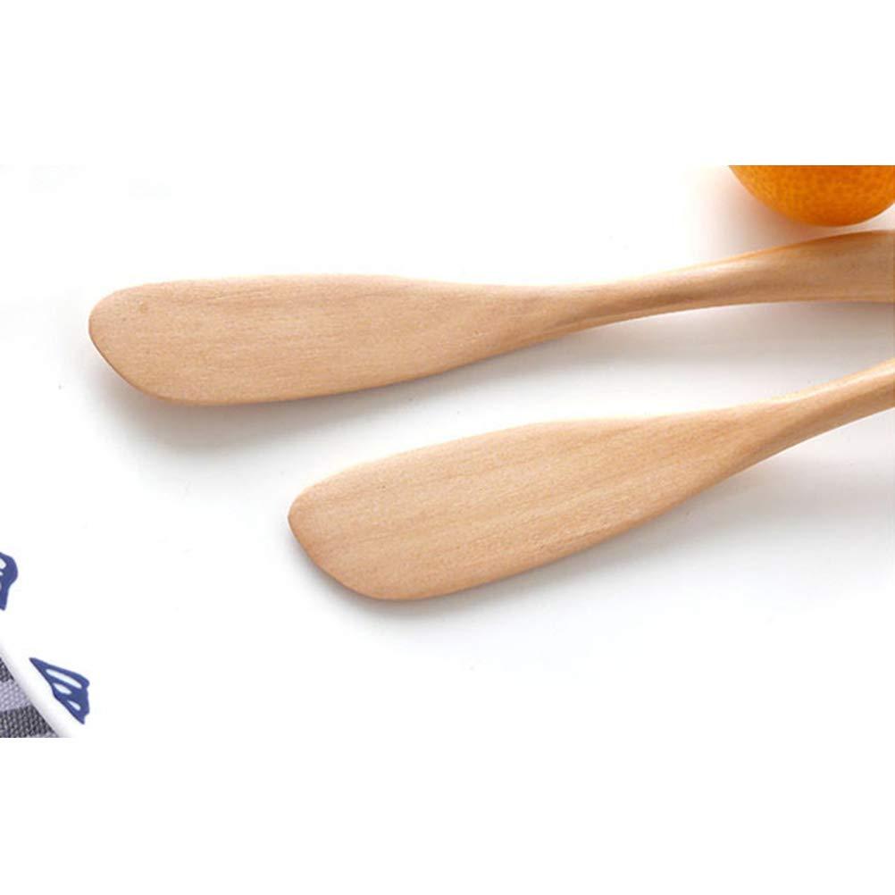 BESTONZON 2PCS burro di burro di legno pasta formaggio crema spalmatori di marmellata torta che decora gli strumenti di cottura