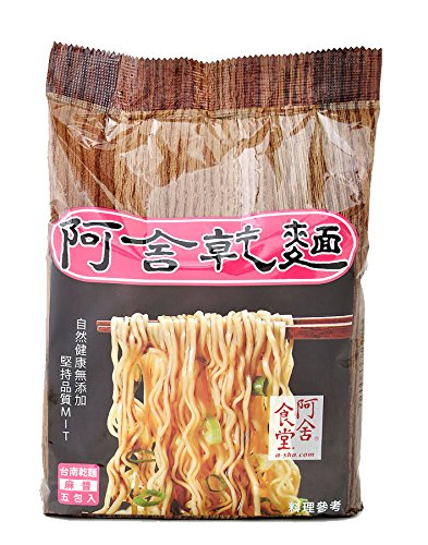 Asha Healthy Ramen Noodles, Thin Size Tainan Noodles, Sesame Paste Flavor, 5 Pouches Per Servings, 3.35Oz (95 grams)