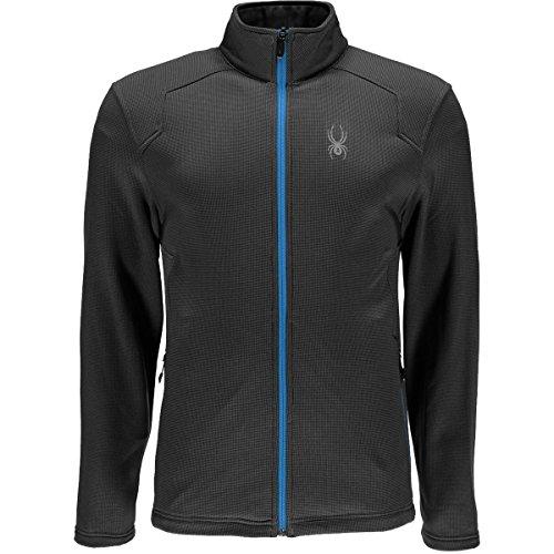 Spyder Active Sports Men's Chambers Full Zip Hard Face Tech Fleece Jacket, Polar, X-Large (Spyder Jackets Snowboarding)