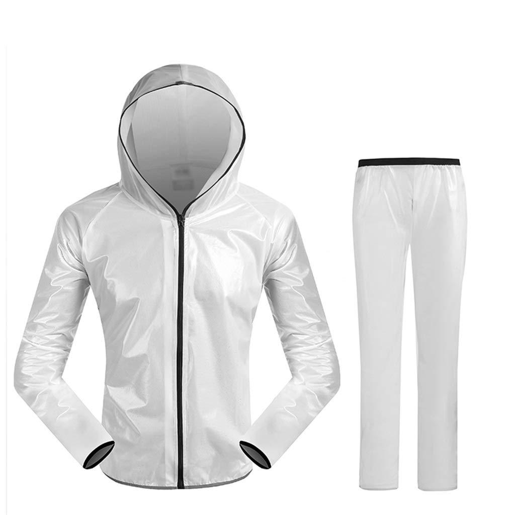 blanc XXXL DXJNI Imperméable d'extérieur - Pantalon imperméable Fendu pour Hommes et Femmes
