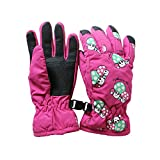 Sports Outdoors Kids Best Deals - Toddlers Kids Toggle Windproof Waterproof Thermal Warm Padded Gloves 2-4 Years Outdoor Sports Gloves Cycling/Biking/Snowing/Skiing Gloves