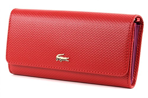 LACOSTE Chantaco Mini Crossover Wallet Pompeian Red