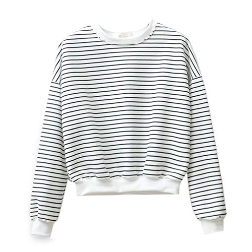Froomer Teen Girls Korean Striped Sweater Pullover