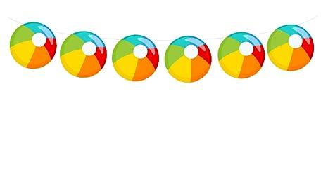 Amazon.com: Guirnalda de pelota de playa, bola Banner, Playa ...