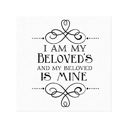 "Bingbinge I Am My Beloveds And My Beloved Is Mine Canvas Art Print on Canvas - 12"" X 16"""