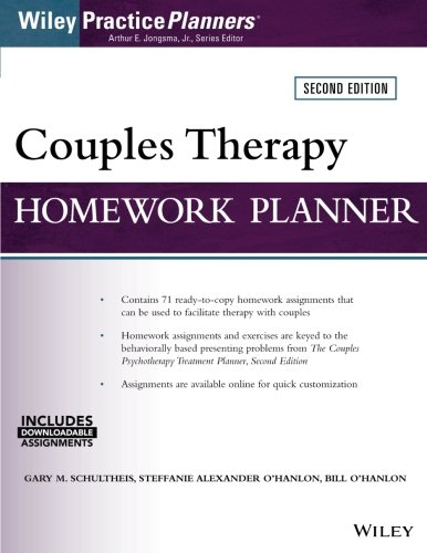 Couples Therapy Homework Planner (Wiley Practice Planners)