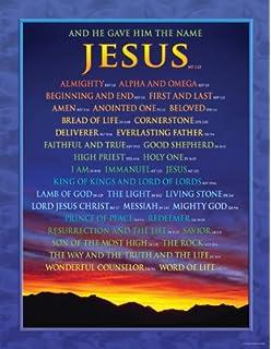 carson dellosa christian names of jesus chart 6324