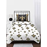 NFL New Orleans Saints Logo Football Twin Bed Sheet Set