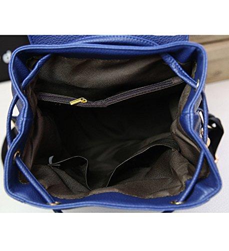Flada - Bolso mochila  para mujer beige beige mediano azul marino