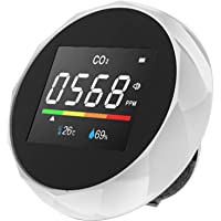 Staright 3 in 1 Carbon Dioxide Meter Temperature/Humidity Air Quality Monitor Digital CO2 Detector Air Analyzer Accurate…