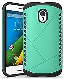 Cruzerlite Moto G 2015 3rd Gen Case, Cruzerlite Spartan Dual Protection Cases Compatible with Motorola Moto G (3rd Generation) 2015 - Teal