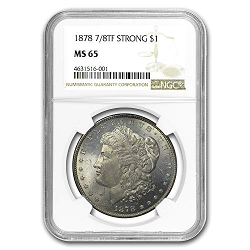 1878 Morgan Dollar 7/8 TF MS-65 NGC (Strong) (Toned) $1 MS-65 NGC