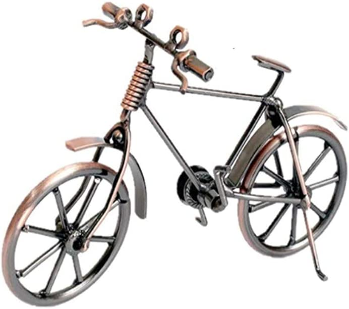 Bicycle Decor Home Decoration Retro Metal Bike Model Craft Bicycle Figurine for Friend Gifts Children Birthday Toy Present Desktop Crafts Creative