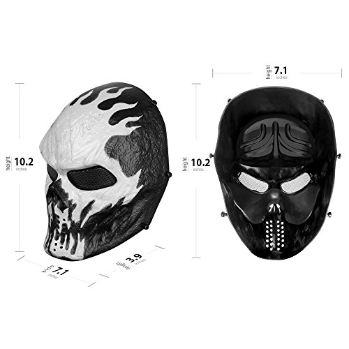 airsoft masks coloring pages | OutdoorMaster Airsoft Mask - Full Face Mask with Mesh Eye ...
