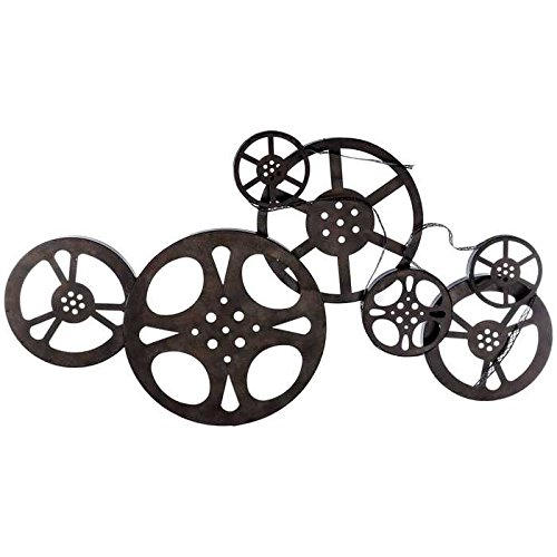 - Antique Bronze Metal Movie Reel Wall Art