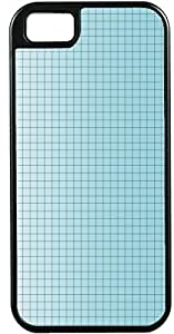 Blueberry Design iPhone 5 5S Case Cover Light Blue Background Blue Checked Design