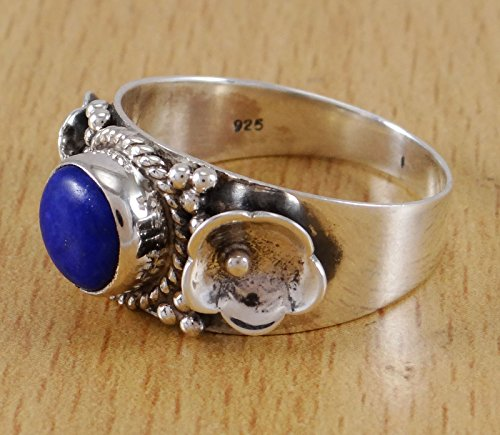 Banithani925 argent sterling lapis lazuli pierres précieuses bijoux de mode anneau