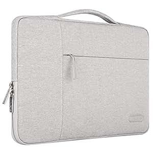 MOSISO iPad Air 3 10.5 2019 Sleeve Case Bag, Compatible 9.7-11 Inch iPad Pro, Surface Go 2018, iPad Air 2/Air (iPad 6/5), iPad 1/2/3/4 Polyester Multifunctional Tablet Carrying Briefcase Handbag, Gray