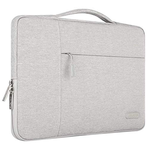 MOSISO Laptop Briefcase Handbag Compatible with 13-13.3 inch MacBook Air, MacBook Pro, Notebook Computer, Polyester Multifunctional Carrying Sleeve Case Cover Bag, Gray (Best Bag For Macbook Air 13)