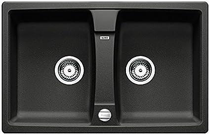 Blanco Lexa 8 Kitchen Sink Silgranit PuraDur, black, 514692 ...