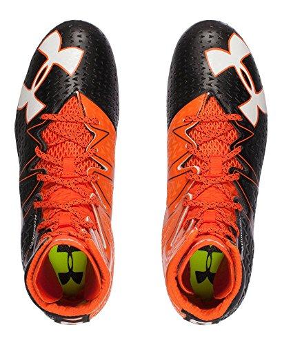 Under Armour Men's UA Highlight MC Football Cleats Black/ Team Orange Orange 100% Original MMbySOeG