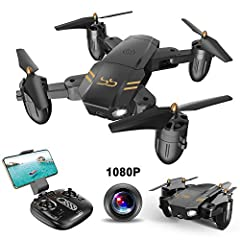 DescriptionWifi FPV Transmission FPV stands for First Person View. Operating the RC drone by your phone, a real-time view will display on the screen of your smartphone and you can share the enjoyment with friends. One button for take-off and ...