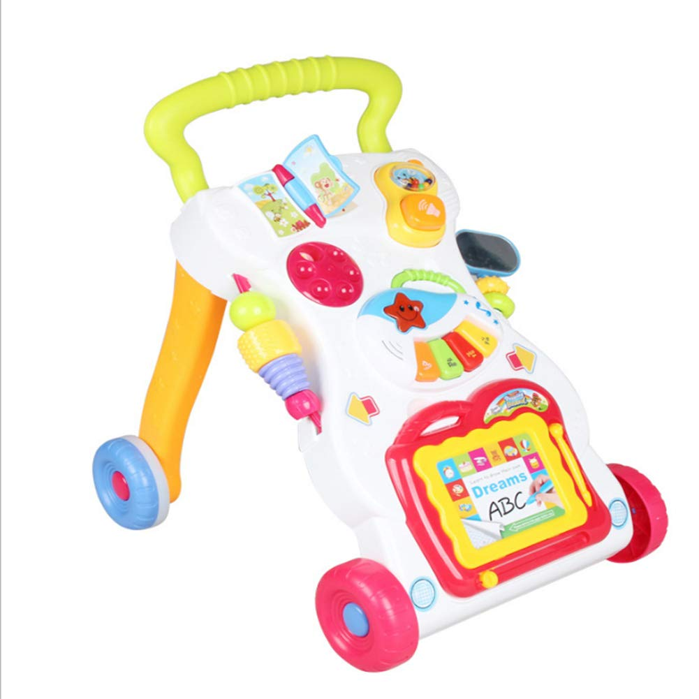 HeiDan Infant Children, Toddler Car, Music, Walker, Adjustable Speed, Anti-Rollover, Baby Stroller Toy