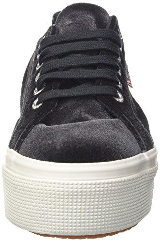 Donna A Sneaker Collo velvetw Grey Superga Dk 2790 Basso vYtw6SBWUq