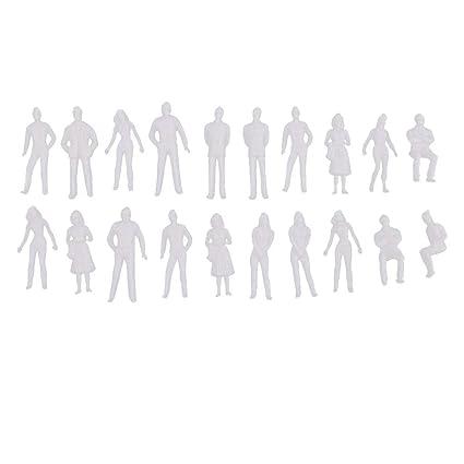 Amazon Com Kodoria 20pcs 1 50 Scale Model Figures Miniature Figures