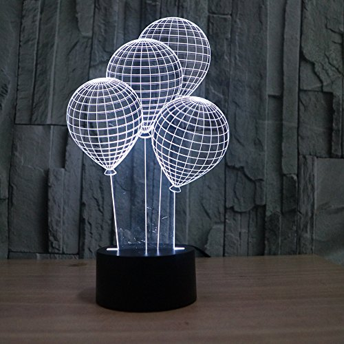 Saiam Balloon Novelty Lighting Touch Acrylic Colorful Gradient Atmosphere Lamp With USB -