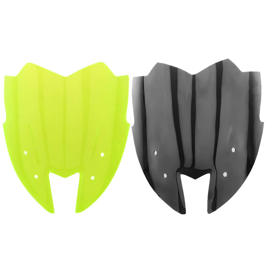 Perfeclan Motorcycle Windshield Windscreen Deflector for Kawasaki Z800 2014-2016 Black